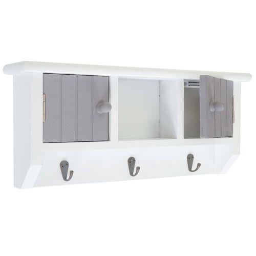 MCW Schlüsselbrett »-A48«, Magnetverschluss, Zum Aufhängen, Magnetverschluss, grau, weiß