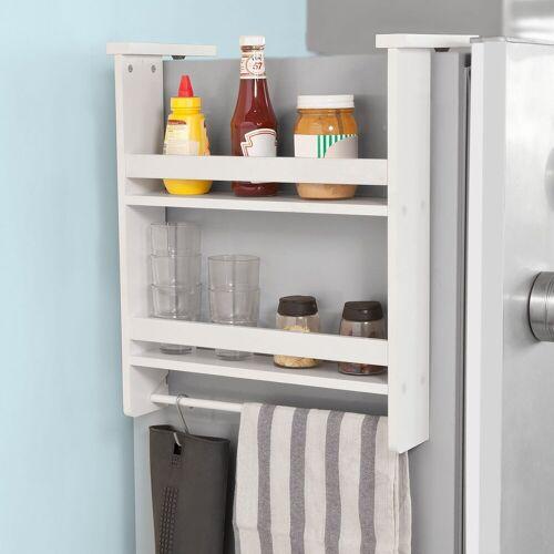 SoBuy Hängeregal »FRG150«, für Kühlschrank mit 5 Haken Küchenregal Gewürzregale, weiß