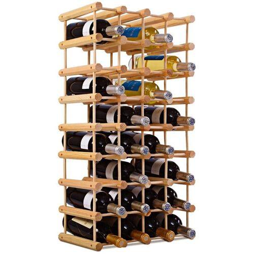 COSTWAY Weinregal »Flaschenregal Weinschrank Weinflaschenhalter«, 40 Flaschen, natur