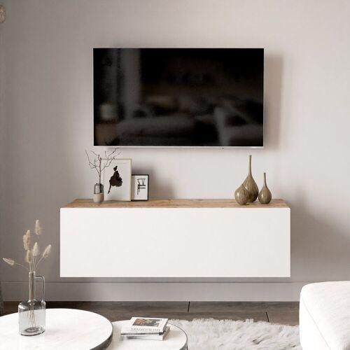 Yurupa Wohnwand »TV Board hängend Lowboard Hängeschrank Hängeboard Wohnwand FR12-AW«