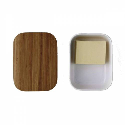 Stelton Butterdose »RIG-TIG BOX-IT Butterdose, weiß«, Melamin, Bambus