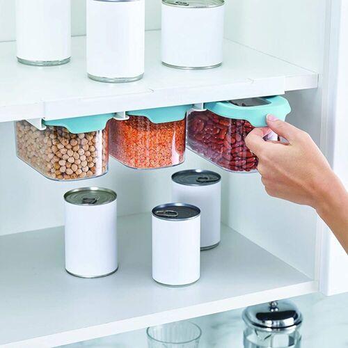 JosephJoseph Aufbewahrungsbox »Aufbewahrungsdosen Unterbauregal klein«, Kunststoff (lebensmittelsicher), Klebeband 3M™ VHB™