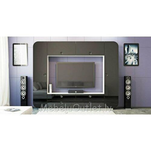 Trebela Wohnwand »Moderne Design Wohnwand IMab«, (1-St)