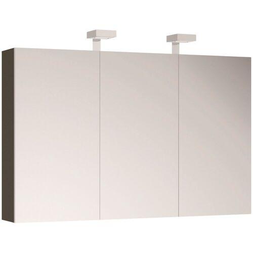 ALLIBERT Spiegelschrank , Breite 120 cm mit LED-Beleuchtung, grau