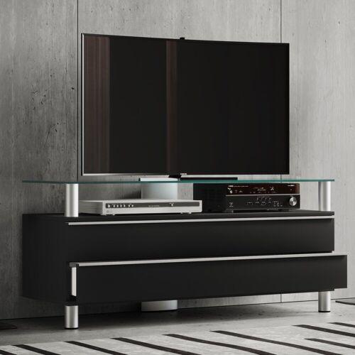 """VCM TV-Board »TV Lowboard mit Rollen """"Dasano""""«, Schwarzlack"""