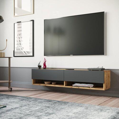 Yurupa Wohnwand »TV Board hängend Lowboard Hängeschrank Hängeboard Wohnwand FR11-AA«