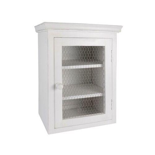 Ib Laursen Wandregal »Laursen - Wandschrank mit Metallfront Weiß 9311-11 Küchenschrank Schrank Shabby«