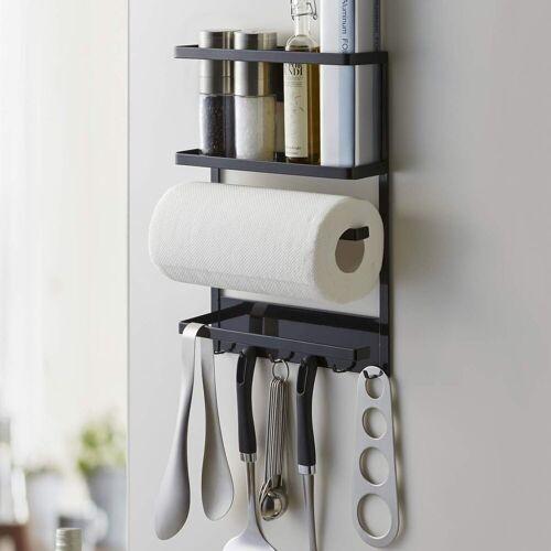 Yamazaki Küchenregal »Tower«, Utensilienhalter, Küchenutensilienhalter, Organizer, magnetisch, schwarz