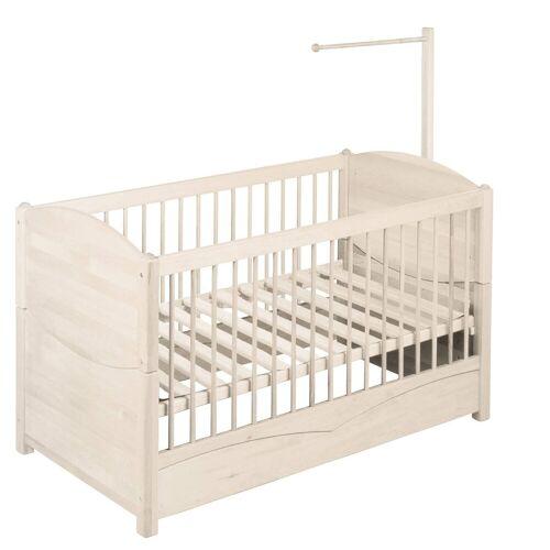 BioKinder - Das gesunde Kinderzimmer Babybett »Luca«, 70x140 cm mit Himmelstange, Weiß