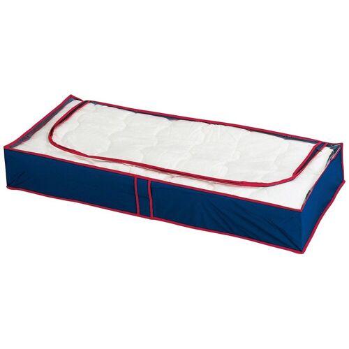 WENKO Unterbettkommode »Unterbettkommode Blau-Rot, 4er Set«, blau/rot