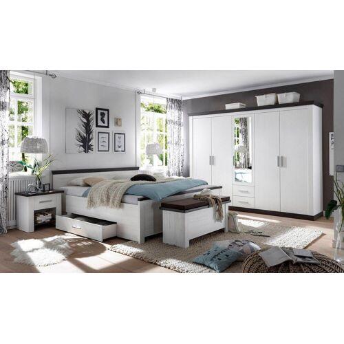 Home affaire Schlafzimmer-Set »Siena«, (Set, 4-tlg), 5trg. Kleiderschrank, Bett 180 cm, 2 Nachttische
