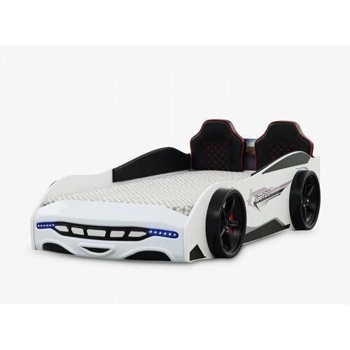 Anka-Plastik Kinderbett »Autobett Kinderbett Sport 3.0 Weiß mit Spoiler«, Autobett für Jungs