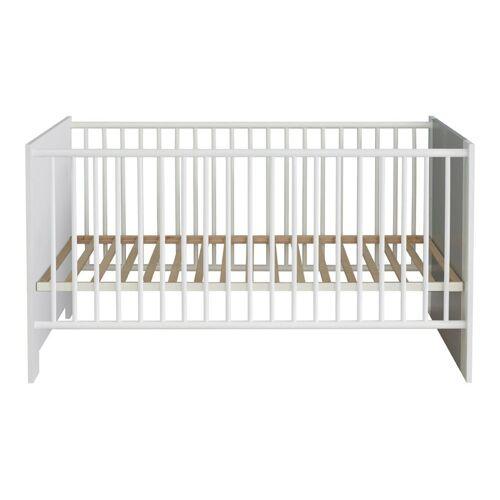 ebuy24 Kinderbett »Petrol Kinderbett 70x140 cm, weiss und grau.«