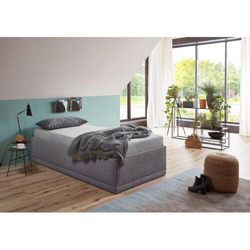 Westfalia Schlafkomfort Polsterbett »Texel«, mit Zierkissen, Standardhöhe, grau