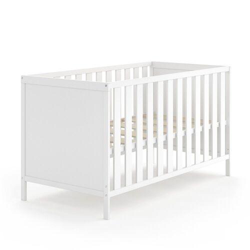 VitaliSpa® Babybett »JONAS 70x140cm Gitterbett Umbaubett Kinderbett umbaubar weiß«