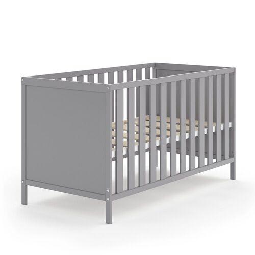 VitaliSpa® Babybett »JONAS 70x140cm Gitterbett Umbaubett Kinderbett umbaubar grau«