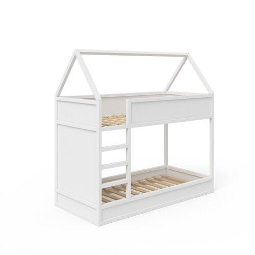 Vicco Kinderbett »Hochbett Massimo Etagenbett Doppelstockbett Holzbett Weiß«