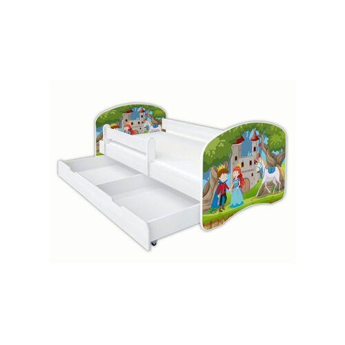 Clamaro Kinderbett (Kinderbett Babybett Jugend, mit Matratze in 3 Größen ), Nr.35 Prinz_Prinzessin