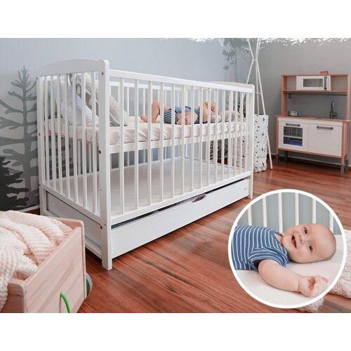 Alcube Babybett »Emmi«, Kinderbett Baby Bett 60x120 cm mit Schubladen als Set Juniorbett mit Rausfallschutz