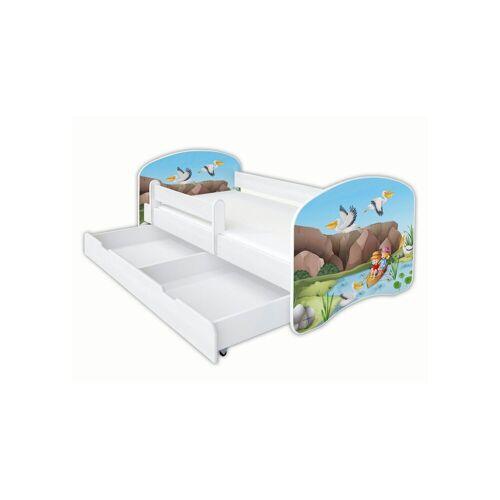 Clamaro Kinderbett (Kinderbett Babybett Jugend, mit Matratze in 3 Größen ), Nr.05 Kinderboot