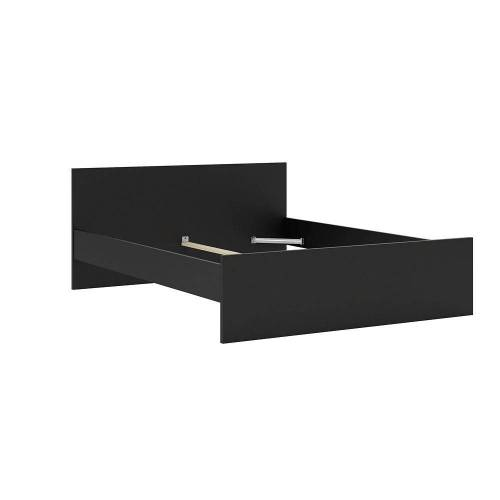 ebuy24 Bett »Nada Bett Doppelbett für Box Matratze 160x200 cm,«, mattschwarz