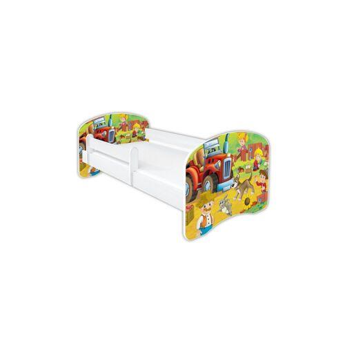 Clamaro Kinderbett (Kinderbett Babybett Jugend, mit Matratze in 3 Größen ), Nr.07 Farm_Traktor