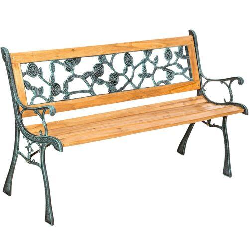 tectake Gartenbank »Gartenbank Marina aus Holz und Gusseisen«