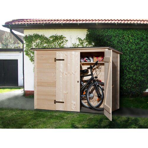 weka Fahrrad-/Mülltonnenunterstand , B/T/H: 205/84/151 cm, natur
