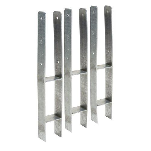 KM Zaun Pfostenanker , 9x9 cm, 2 oder 3 Stück im Set