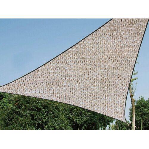 Perel Sonnensegel, dreieckig Dreieck-Segel wasserdurchlässig für Terrasse Balkon & Garten Sonnenschutz-Segel, Champagner