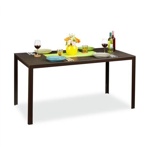 relaxdays Gartentisch »Rechteckiger Gartentisch Holzoptik«