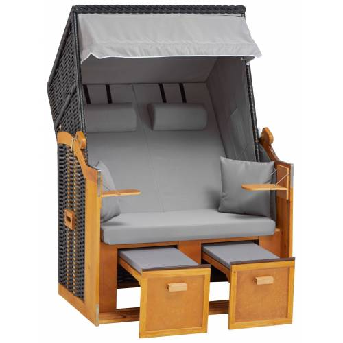 DEVRIES Strandkorb »Basic«, 2-Sitzer, BxTxH: 118x80x160 cm