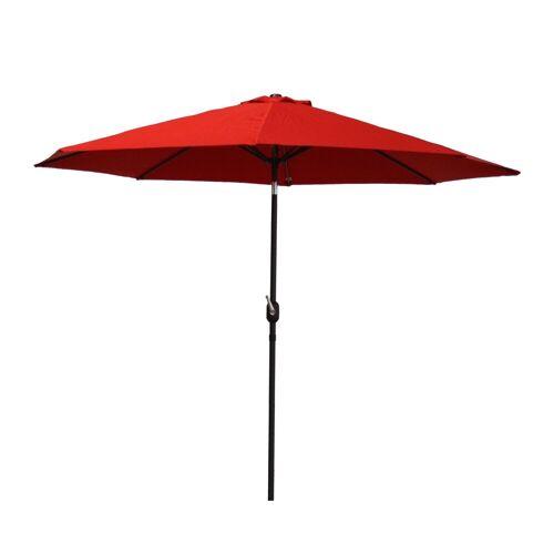 Raburg Sonnenschirm »SUNNY EASY+ in ROT - XXL Gartenschirm neigbar mit Sonnenschutz UV50+, 3x3 m - Stoff 160g/m2 - Gewicht: 4 kg«