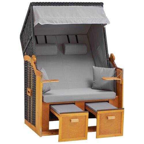 DEVIRES Strandkorb »Basic«, 2-Sitzer, BxTxH: 118x80x160 cm