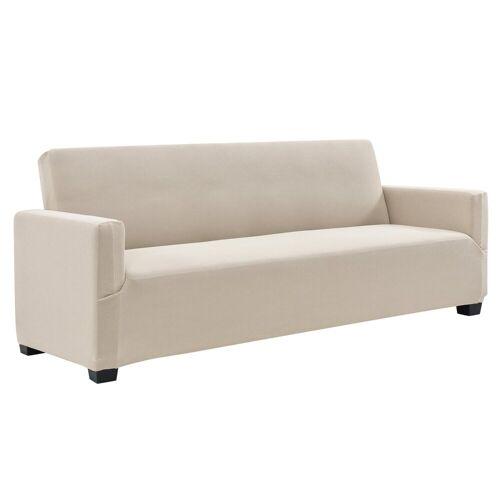 neu.haus Sofahusse, , 140-210cm Sandfarben Sofabezug 3-Sitzer, sandfarben