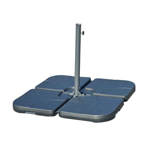 Outsunny Schirmhalter »Behälter für Bodenkreuz von Sonnenschirmständern«