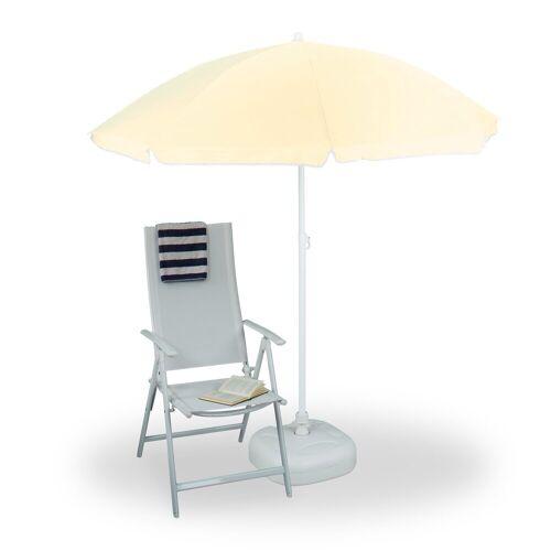 relaxdays Sonnenschirm »Sonnenschirm 180 cm Spannweite«, Gelb