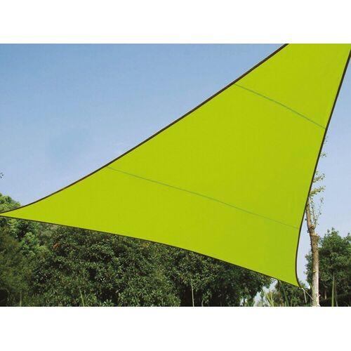 Perel Sonnensegel, dreieckig Dreieck-Segel für Terrasse Balkon & Garten Sonnenschutz-Segel - Terrassenüberdachung, Grün