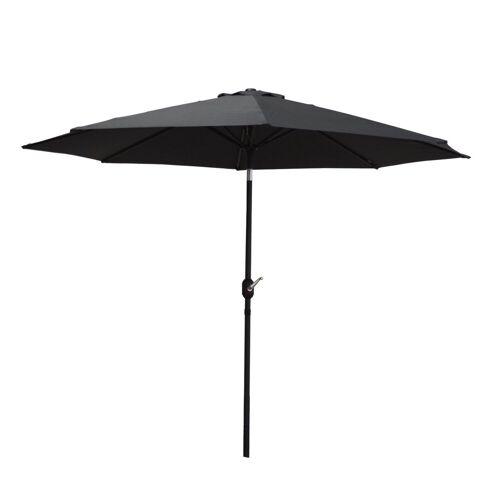 Raburg Sonnenschirm »SUNNY EASY+ in SCHIEFER - XXL Gartenschirm neigbar mit Sonnenschutz UV50+, 3x3 m - Stoff 160g/m2 - Gewicht: 4 kg«