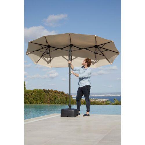 garten gut Sonnenschirm »Malaga«, H: 220 cm, Inkl. Schutzhülle, Ohne Schirmständer, natur
