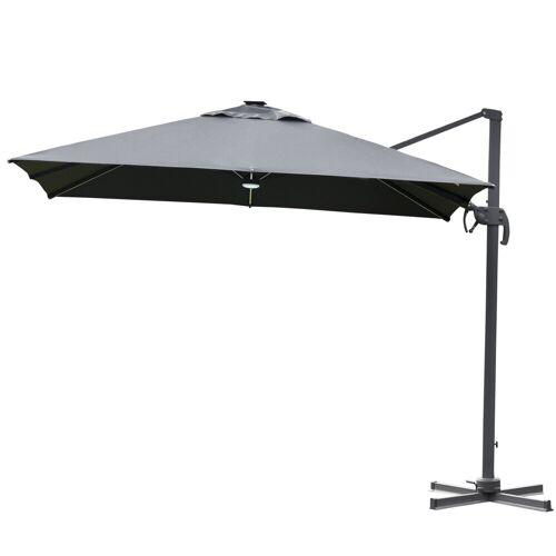 Outsunny Sonnenschirm »Sonnenschirm mit Solar_LEDs«