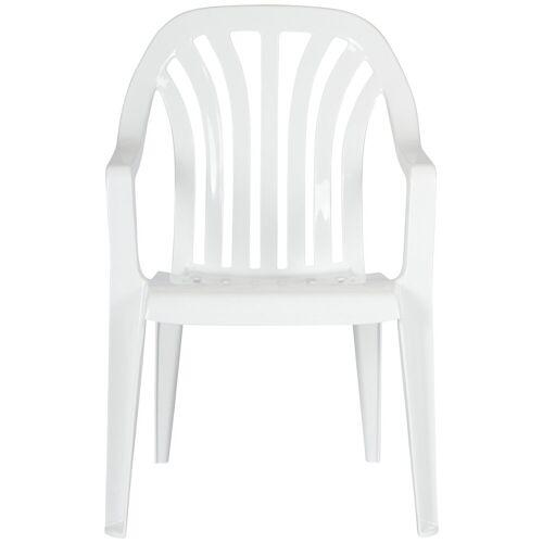 Best Gartenstuhl »Laredo«, (4er Set), Kunststoff, stapelbar, weiß, weiß