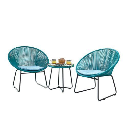 HTI-Line Sitzgruppe »Terrassenmöbel Almeria«, (2x Sessel, 1x Tisch, 3-tlg), Terrassenmöbel