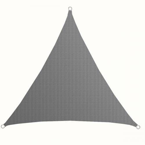 AMANKA Sonnensegel »UV Sonnensegel Sonnenschutz Plane Überdachung«, 3x3x3 m HDPE Dreieck - Grau