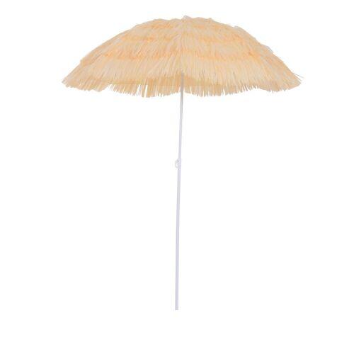 Outsunny Sonnenschirm »Hawaiischirm höhenverstellbar«, beige
