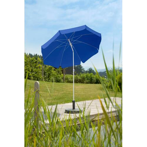 Schneider Schirme Sonnenschirm »Ibiza«, Ø 200 cm, ca. 150 g/m², ohne Schirmständer, blau