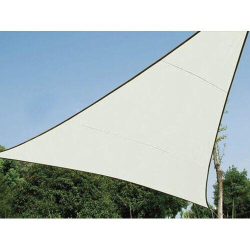 Perel Sonnensegel, dreieckig Dreieck-Segel für Terrasse Balkon & Garten Sonnenschutz-Segel - Terrassenüberdachung, Creme