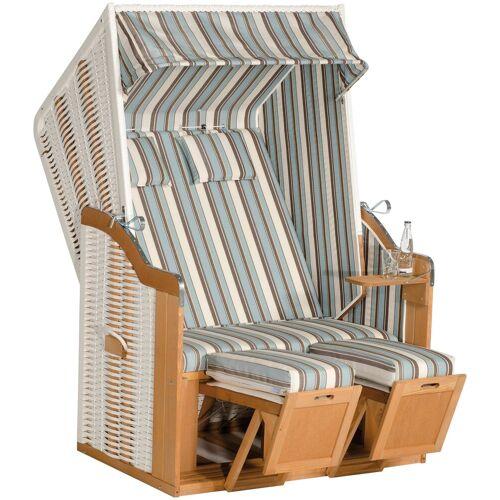 SunnySmart SUNNY SMART Strandkorb »Rustikal 50 Plus«, BxTxH: 120x80x160 cm, weiß
