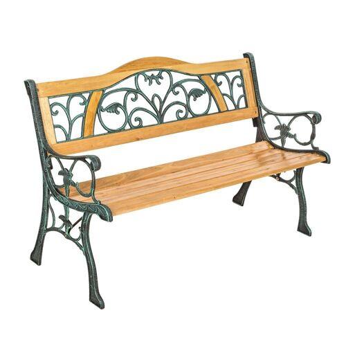 tectake Gartenbank »Gartenbank Kathi aus Holz und Gusseisen«