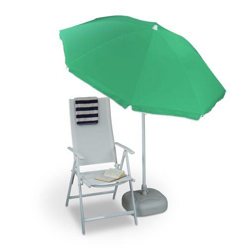 relaxdays Sonnenschirm »Sonnenschirm 180 cm Spannweite«, Grün